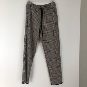NWOT Zara plaid jogger pants